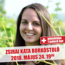 Zsirai Kata borkóstoló jegy + ajándék palack bor