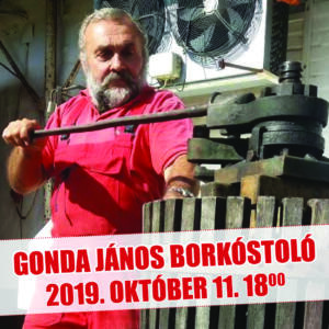Gonda János borkóstoló (Hajós-Baja)
