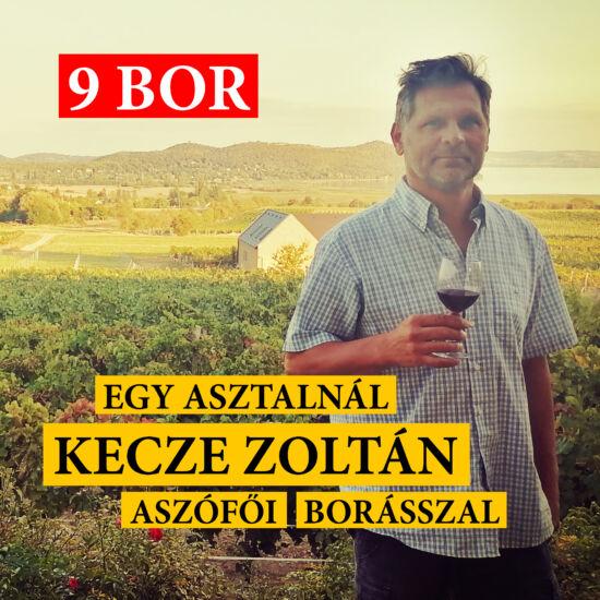 Kecze Zoltán borkóstoló